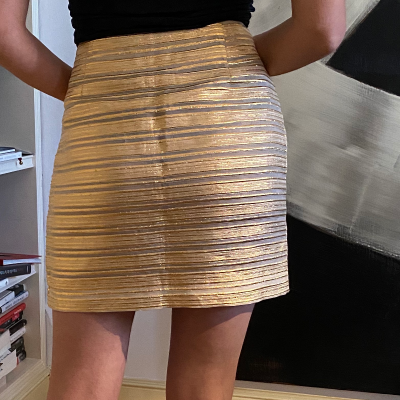 Minifalda dorada Best for less