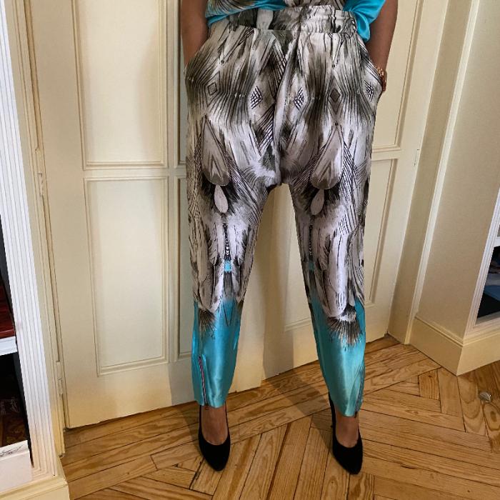 Total look pantalón y top
