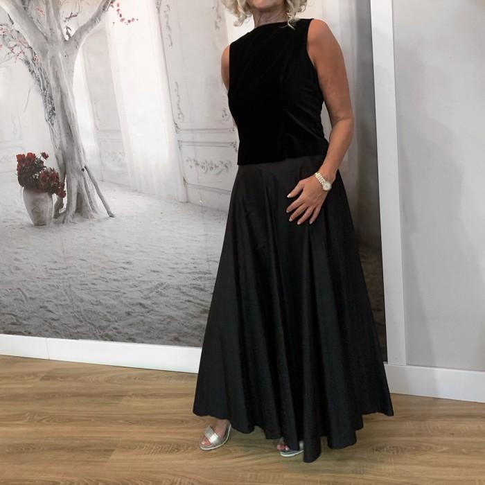 Top terciopelo y falda