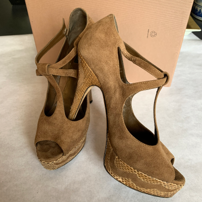 Peep-toes camel Best for less
