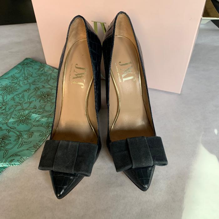 Zapatos tacón verdes