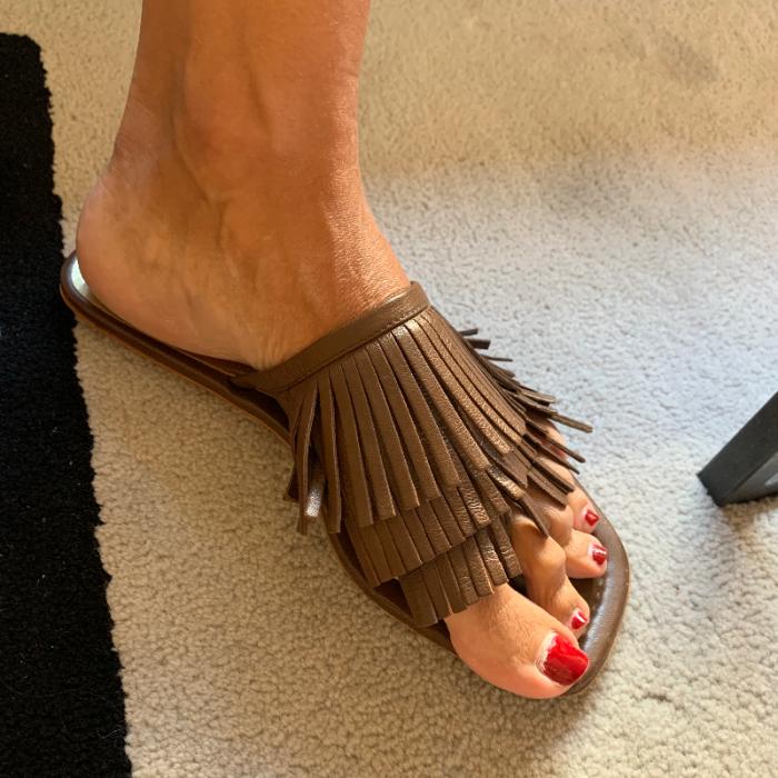 Sandalias flecos Prada