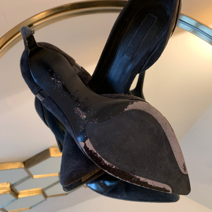 Zapato tacón ante
