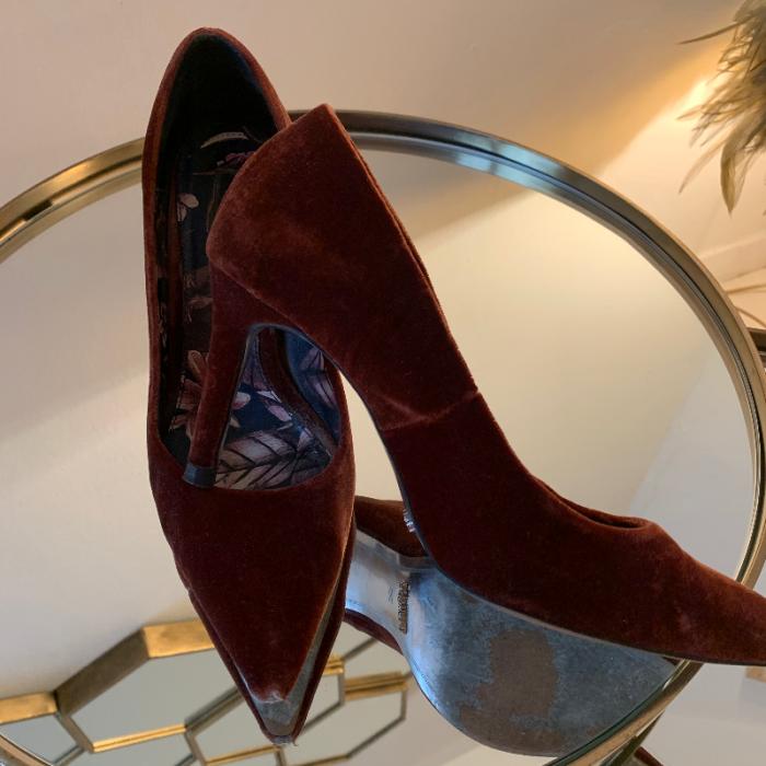 Zapato terciopelo
