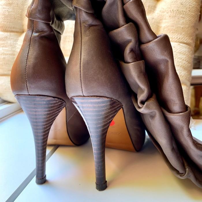 Botas napa tacón marrón