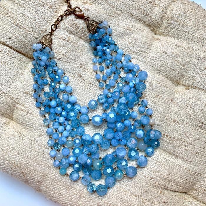 Collar azul cristales
