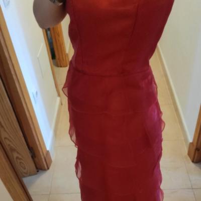 Vestido largo rojo
