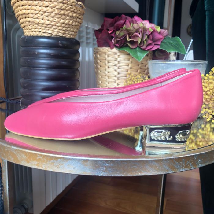 Zapato manoletina tacón
