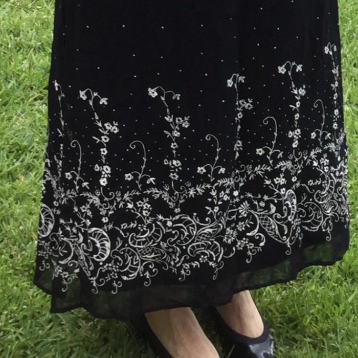 Vestido de gasa negro