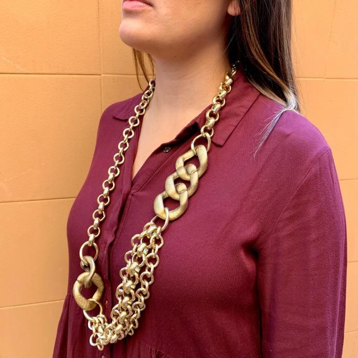Collar eslabones dorado