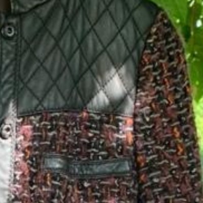 Cazadora tweed burdeos Best for less