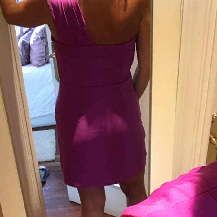 Vestido de fiesta fucsia